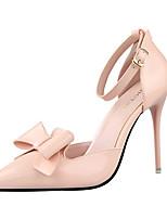 Zapatos de mujer-Tacón Stiletto-Tacones-Tacones-Casual-Semicuero-Negro / Rosa / Rojo / Blanco / Plata / Gris