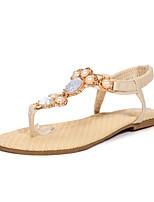 Women's Shoes Flat Heel Mary / Comfort / Open Toe Sandals Outdoor / Dress / Casual Blue / Pink / Beige
