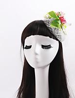 Women's / Flower Girl's Fabric / Net Headpiece-Wedding / Special Occasion / Casual Flowers 1 Piece