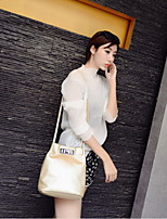 Fashion Women PU / Polyester Barrel Shoulder Bag / Tote-Multi-color