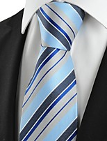 New Striped Grey Blue JACQUARD Mens Tie Necktie Wedding Party Holiday Gift #1020