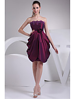 Cocktail Party Dress-Regency A-line Strapless Taffeta