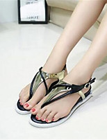 Women's Shoes Flat Heel Flip Flops Sandals Office & Career / Casual Silver / Gold