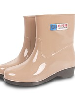 Women's Shoes PVC Flat Heel Rain Boots Flats / Boots Outdoor Blue / Red / Khaki