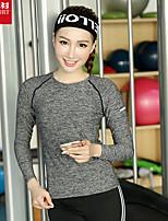 Yoga T-shirt Breathable / Quick Dry / Soft Sports Wear Yoga / Pilates / Leisure Sports / Cycling/Bike / Running