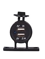12-24V t staffa moto automobile Dual USB caricatore per auto