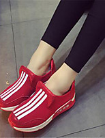 Women's Shoes Tulle Flat Heel Creepers / Comfort Athletic Shoes Outdoor / Athletic Black / Red