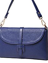 VUITTON Women PU Flap Shoulder Bag / Satchel-White / Pink / Blue / Black / Burgundy