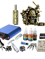 basekey tattoo kit jh569 1 machine met stroomaansluiting grips 3x10 ml inkt