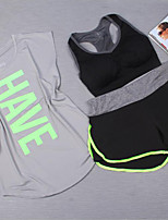 2016 New Outdoor Fitness Quick-drying Perspiration Loose Short-sleeved T-shirt Jogging Pants Yoga Bra Set