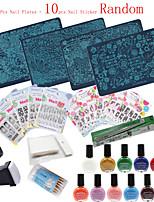 30Pcs /Set   Nail Art Image Stamp Stamping Plates Manicure Template Nail Art Tools  (Nail Plates + Nail Sticker Random)