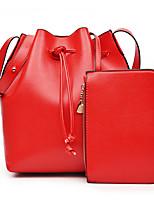 VUITTON Women PU Barrel Shoulder Bag / Satchel / Clutch-Pink / Purple / Red / Black