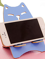 modello gatto supporto di legno per iPhone e Samsung (colore casuale 1pcs)
