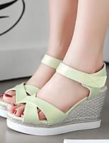 Women's Shoes Wedges Heels /Platform/Sling back/Open Toe Sandals Dress Black/Pink/White/Dark Green/Light Green