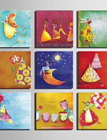 E-HOME® Stretched Canvas Art Elf Woman Series Decoration Painting MINI SIZE One Pcs