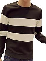 Sets Activewear Uomo Casual A strisce Manica lunga Cotone / Poliestere