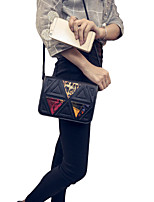 Women Small Shoulder Bag Geometric Flap Front Shoulder Strap Casual Crossbody Bag