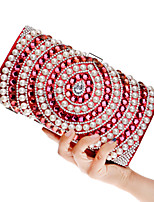 L.west Women Acrylic Jewels Pearl Diamonds Evening Bag