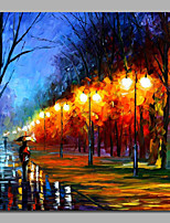 Impression Abstract Scenery Street Knife Painting With Stretcher