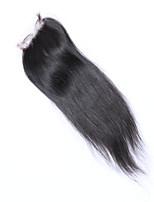mekywell 4 * 4 encierro del pelo recto sedoso parte libre del pelo virginal brasileño