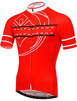 Jersey(Vermelho / Preto) - deAcampar e Caminhar / Pesca / Alpinismo / Fitness / Esportes Relaxantes / Basquete / Basebal / Praia /