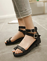 Women's Shoes Chunky Heel Toe Ring / Comfort / Open Toe Sandals Dress / Casual Black / Blue / Yellow / White