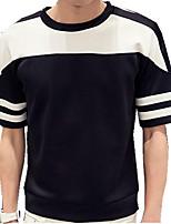 Sets Activewear Uomo Casual Monocolore Manica corta Cotone / Poliestere