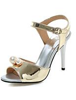 Women's Shoes Stiletto Heel Round Toe Sandals Dress Blue / Pink / Silver / Gold