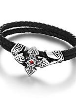 2016 FashionVertage Titanium Steel Wrap Wristband  Chain link Bracelet For Men