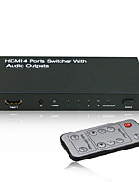 4x1 HDMI Switcher intelligente con uscita audio (stereo, Toslink o coassiale (RCA) con FCC certificati Rosh