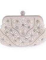 Women PU Baguette Clutch / Evening Bag / Wallet / Coin Purse-White