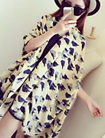 Women Birds Parrot Print Scarf Super Beautiful Cotton Twill Scarves Scarves