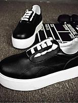 Scarpe Donna-Sneakers alla moda-Tempo libero / Casual-Creepers-Plateau-Finta pelle-Nero / Bianco