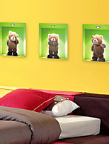 3D Wall Stickers Wall Decals Style Bear Waterproof Removable PVC Wall Stickers