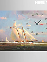 E-HOME® Sailing On The Sea Clock in Canvas 1pcs
