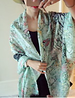 Women Super Wide Floral Beauty Printed Scarves Oversized Shawl Scarves