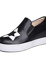 Women's Shoes Wedge Heel Platform / Creepers / Round Toe Loafers Outdoor / Dress / Casual Black / Blue / Pink / White