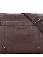 Men's Casual Solid Leather Shoulder Bag Haversack