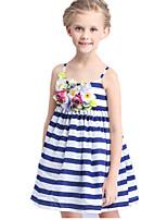 Girl's Blue Dress / Tank & Cami Cotton / Polyester Summer