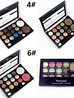 12 Glitter Shimmer Color Eyeshadow+2 Blush Palette de Fard à Paupières Sec / Lueur Fard à paupières palette Poudre NormalMaquillage