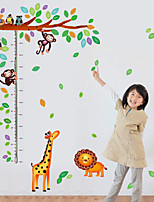 Wall Stickers Wall Decals Style Monkeys Measure Your Height Waterproof Removable PVC Wall Stickers
