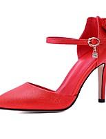 Chaussures Femme-Mariage / Habillé / Soirée & Evénement-Noir / Rouge / Blanc-Talon Aiguille-Talons / D'Orsay & Deux Pièces / Bout Pointu-