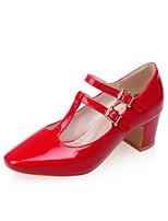 Homme-Bureau & Travail / Décontracté-Noir / Rose / Rouge / Blanc-Gros Talon-Talons / Bout Pointu-Chaussures à Talons-Cuir Verni