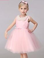 Ball Gown Short/Mini Flower Girl Dress-Tulle Sleeveless