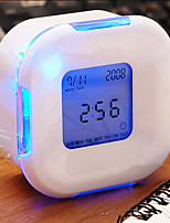 LED Glowing Change Digital Glowing Alarm Thermometer Clock Cube (Color Random)