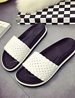 Women's Shoes  Platform Peep Toe Slippers Casual Black / White / Silver