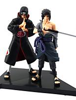 2PCS Uchiha Sasuke+Uchiha Itachi 16CM PVC Anime Action Figures Doll Toys