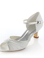 Women's Wedding Shoes Heels / Comfort / Round Toe Sandals Wedding / Party & Evening / Dress Ivory