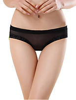 Women's Transparent gel hip bow lace briefs