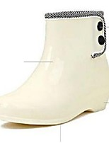 Women's Shoes PVC / Silicone / Latex Low Heel Rain Boots  / Fashion Boots  / Boots Outdoor / Casual White
